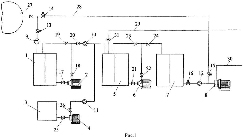 Устройство для приготовления и подачи водомазутной эмульсии в двигатель внутреннего сгорания