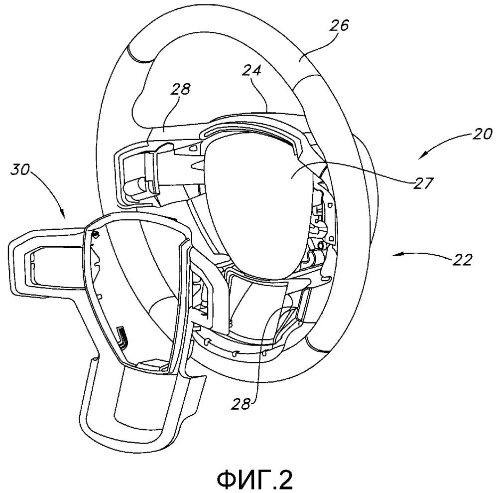 Сборное рулевое колесо, узел включения звукового сигнального средства, моторное транспортное средство (варианты) и способ включения звукового сигнального средства моторного транспортного средства