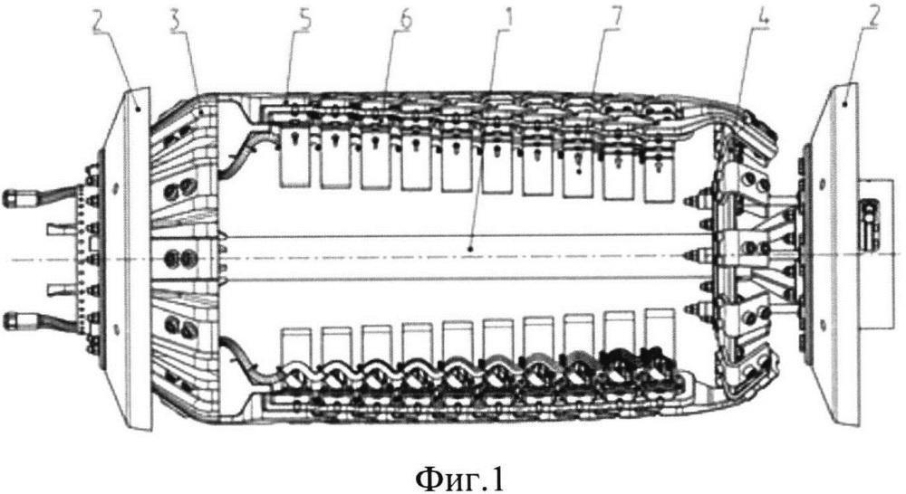 Носитель датчиков внутритрубного ультразвукового дефектоскопа