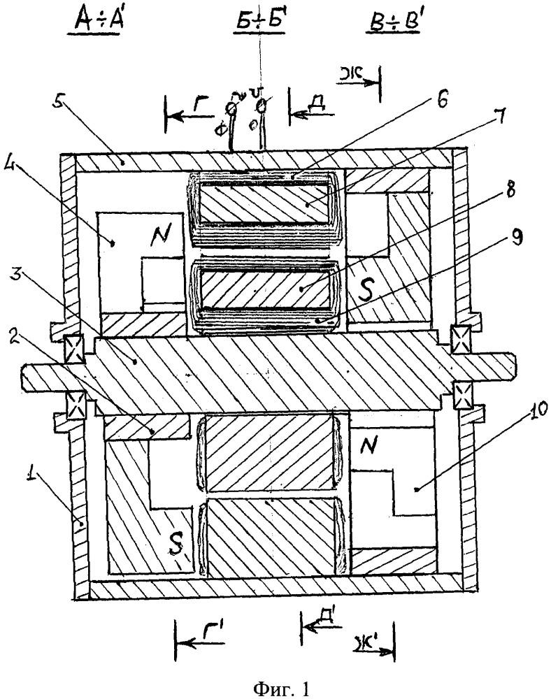Магнитоэлектрическая машина с кольцевыми обмотками