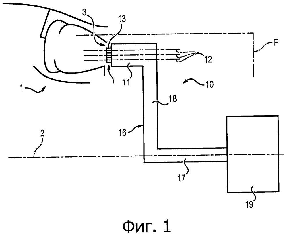 Измерительная гребенка для измерения параметров газов в проточном тракте газотурбинного двигателя