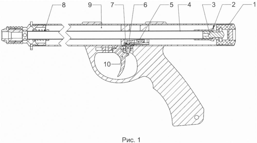 Спусковой механизм ружья для подводной охоты