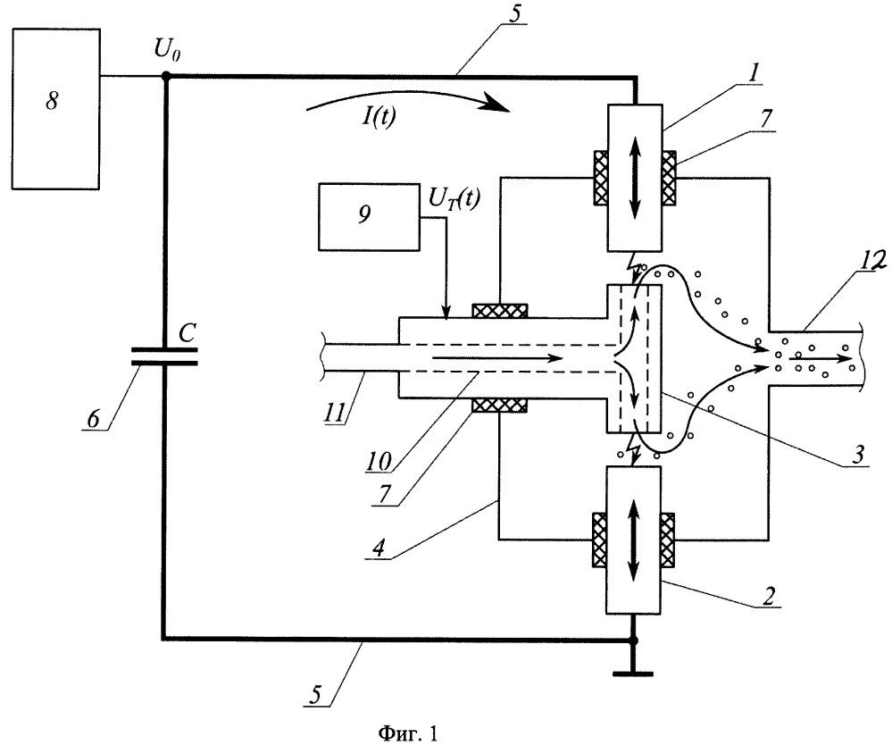Генератор для получения наночастиц в импульсно-периодическом газовом разряде