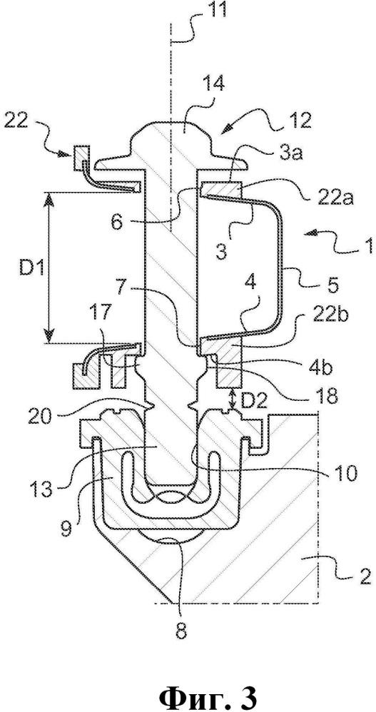 Соединение элемента конструкции передней технической стороны автотранспортного средства с функциональным элементом и автотранспортное средство