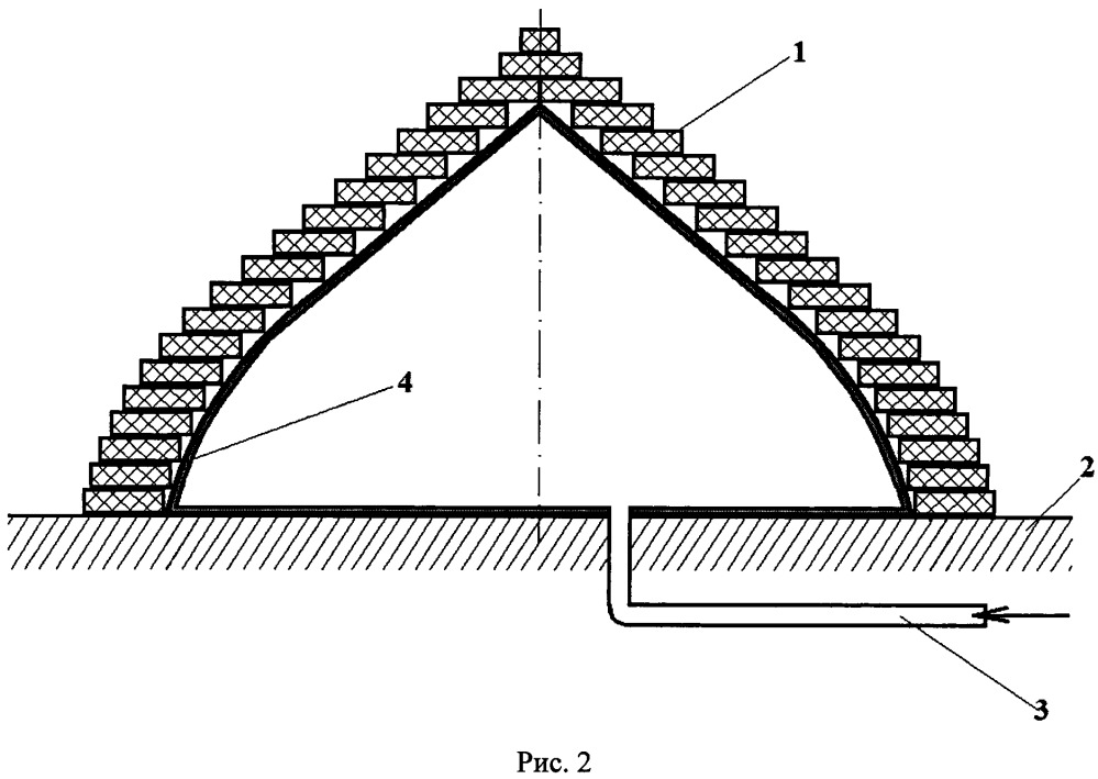Способ возведения стрельчатых купольных конструкций