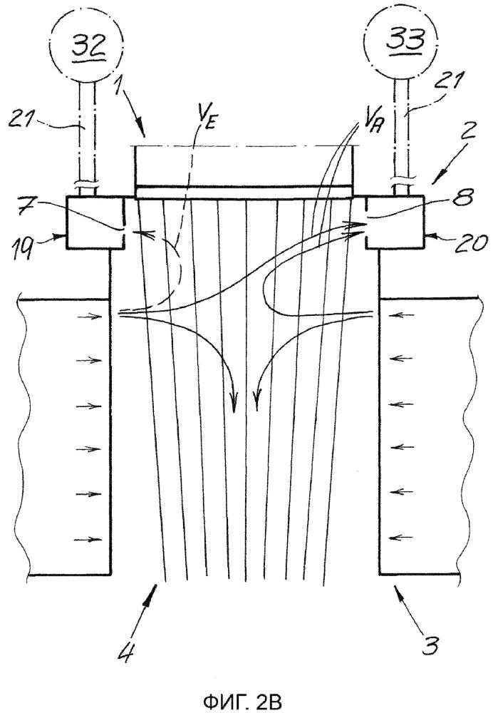 Устройство и способ для изготовления фильерного нетканого материала из непрерывных элементарных нитей