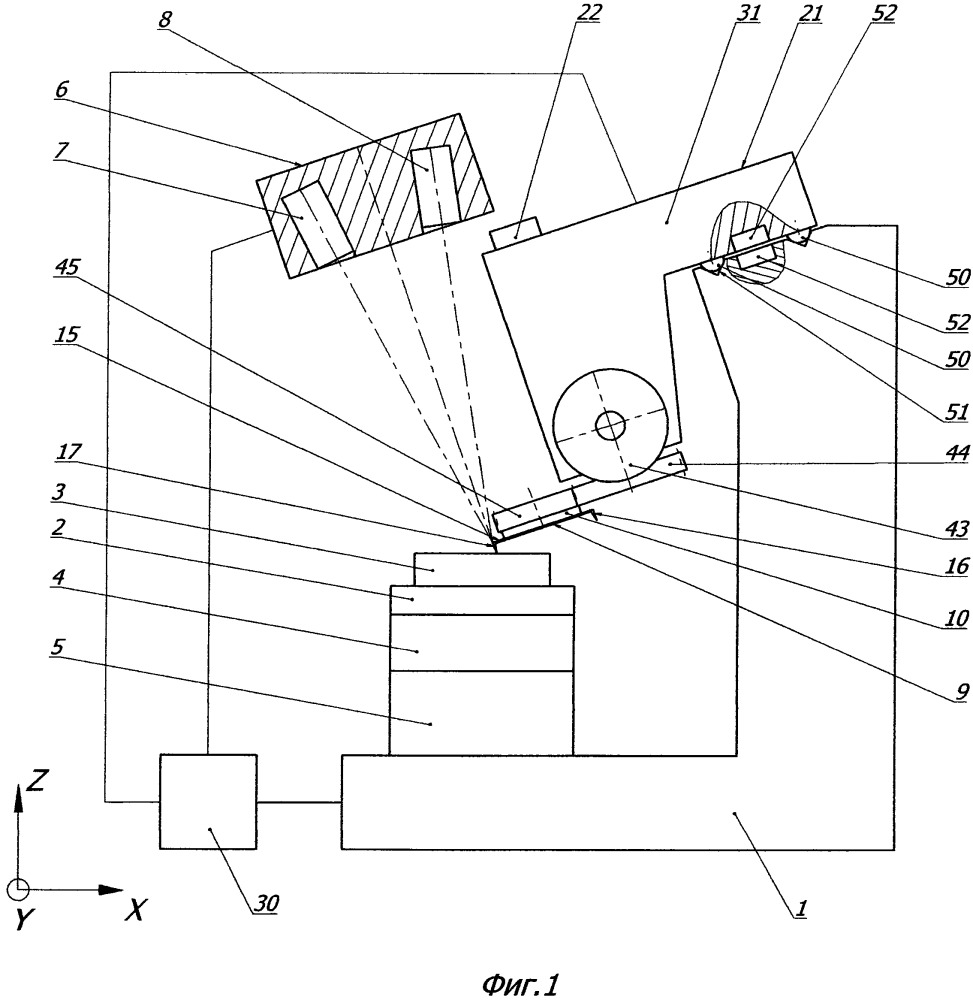 Сканирующий зондовый микроскоп с устройством для функционирования многозондового датчика