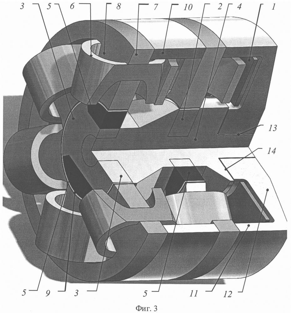 Двухпакетная индукторная электрическая машина с комбинированным возбуждением (варианты)