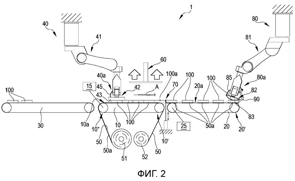 Способ и установка для автоматического наложения шумоподавляющего элемента на шину для колес транспортных средств