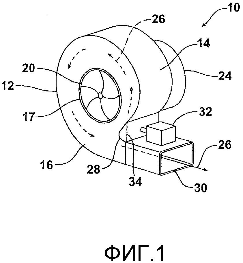 Нагнетательный узел (варианты), транспортное средство, содержащее такой узел, и способ изменения скорости воздушного потока в нагнетательном узле