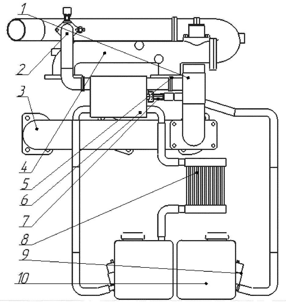 Система рециркуляции газодизельного двигателя
