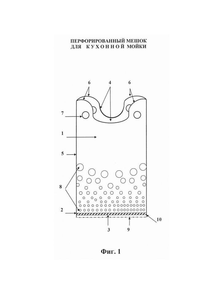 Перфорированный мешок для кухонной мойки
