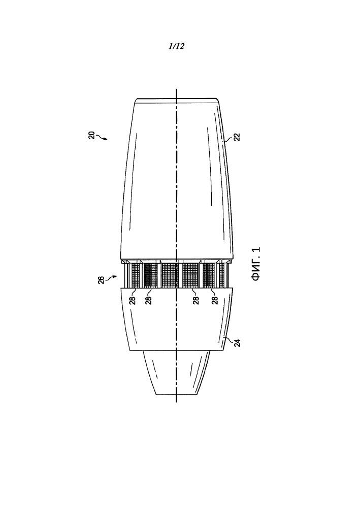 Каскадная решетчатая панель для реверсоров тяги реактивного двигателя, способ и устройство для ее изготовления