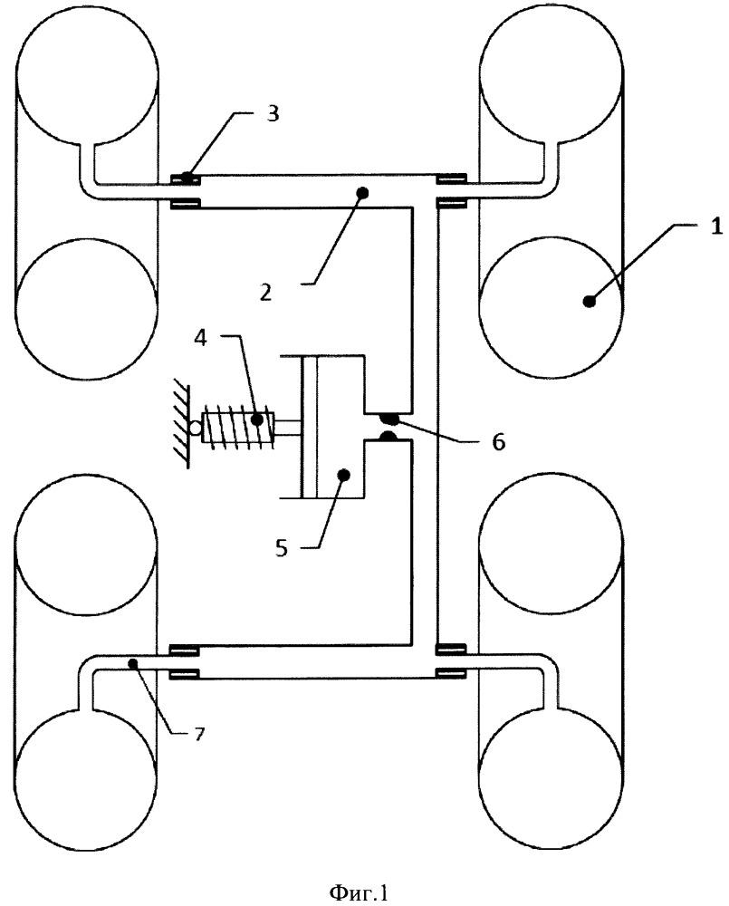 Пневмоциркуляционная подвеска с гасителем колебаний