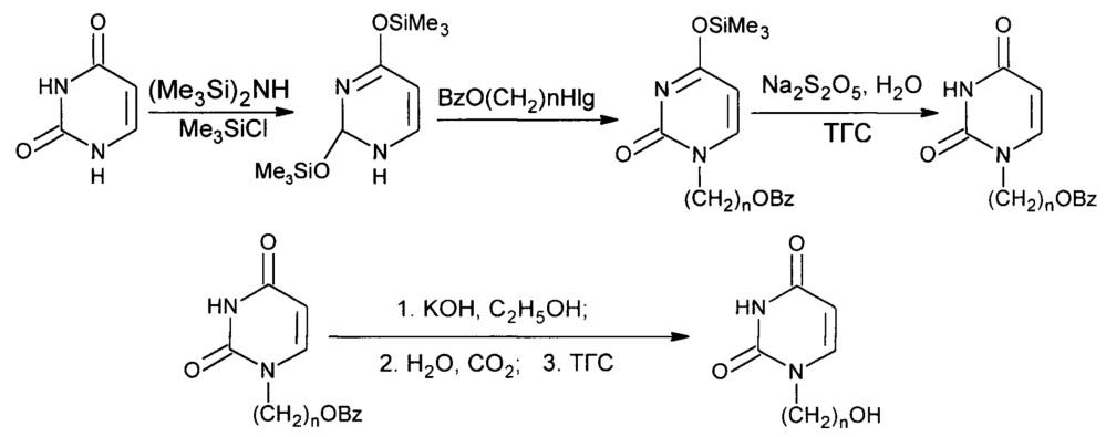Способ получения 1-(ω-гидроксиалкил)урацилов