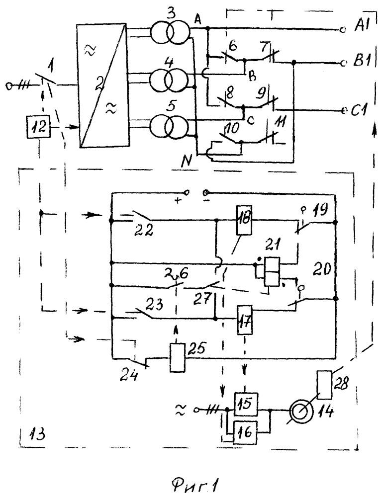 Установка для испытания трансформаторов