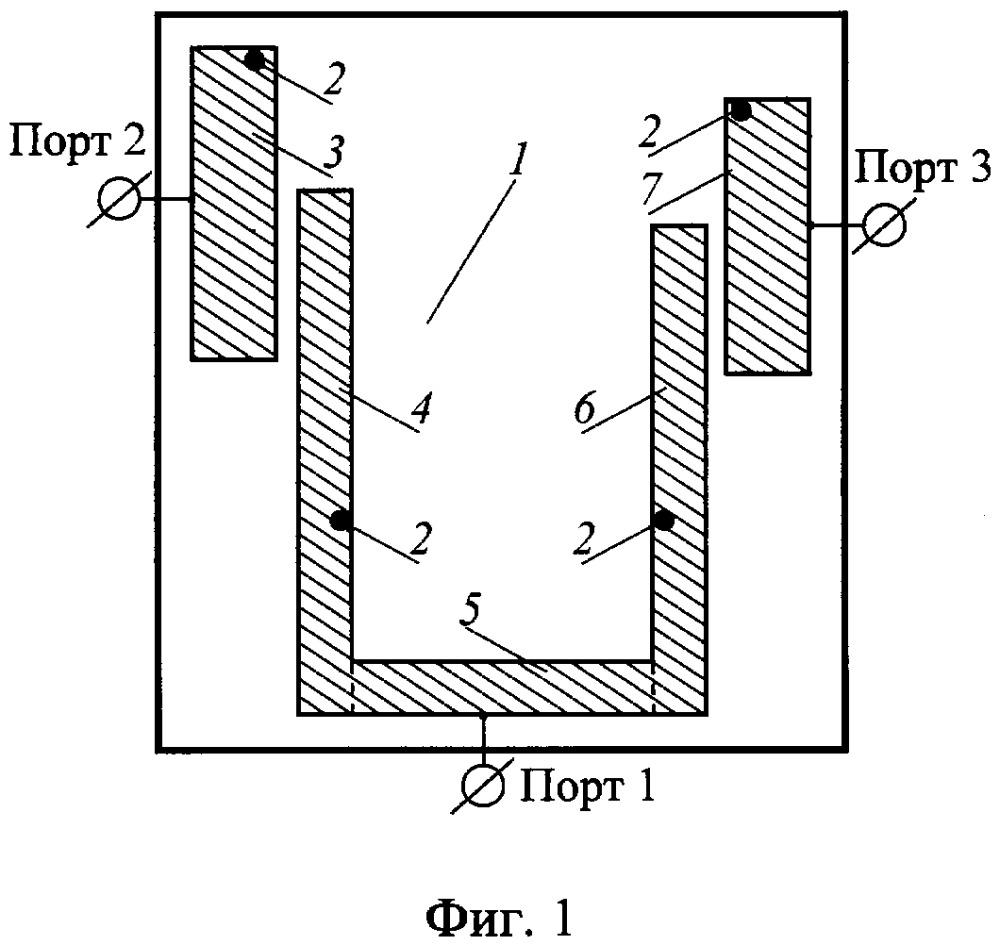 Микрополосковый диплексер