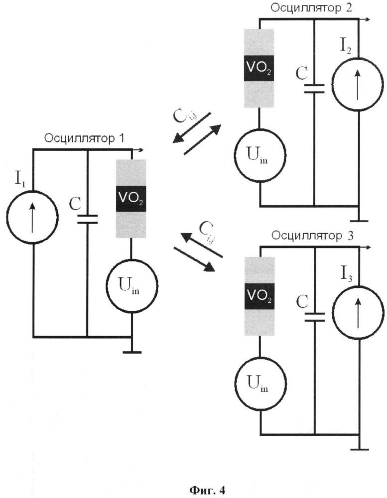 Способ распознавания образов в системе связанных осцилляторов
