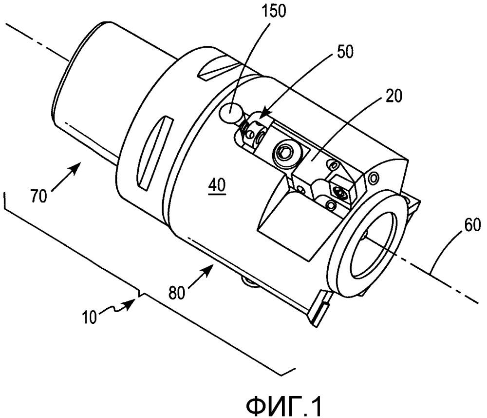 Механизм для усовершенствованной двунаправленной точной регулировки кассет режущих пластин в обрабатывающих режущих инструментах