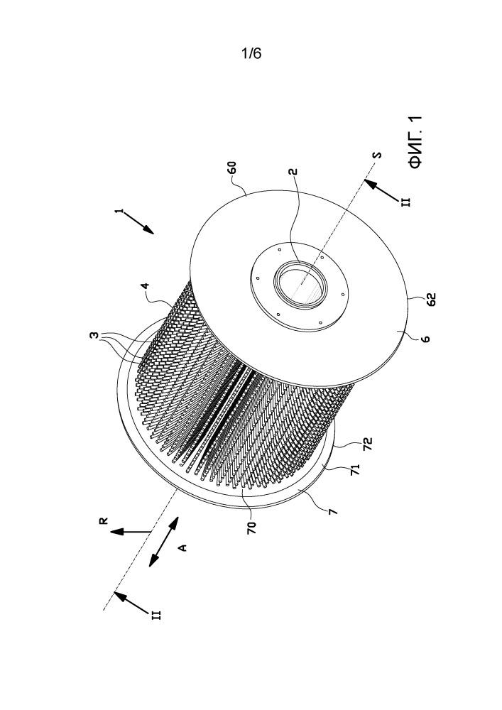 Отклоняющий валок, применение отклоняющего валка и установка для сборки шин, содержащая такой отклоняющий валок