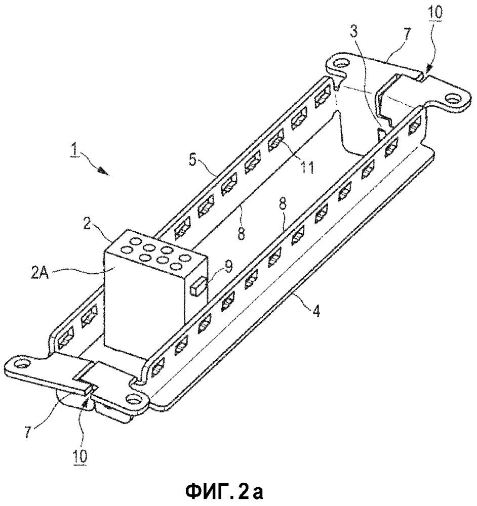 Удерживающая рама для удерживания модулей штекерного соединителя