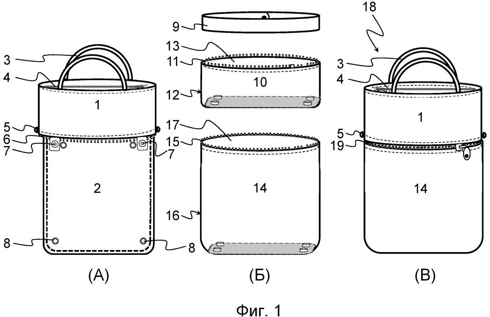 Модульная сумочная система для создания сумки и соответствующая сумка