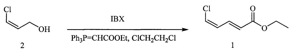 Способ получения этил(2e,4z)-5-хлорпента-2,4-диеноата