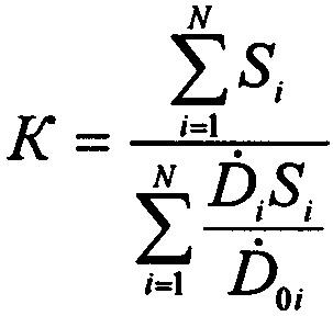 Способ определения кратности ослабления гамма-излучения радиоактивно загрязненной местности корпусом крупногабаритного объекта