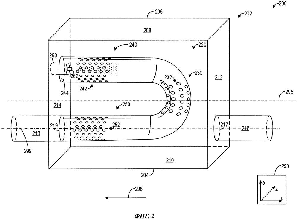 Смеситель отработавших газов (варианты) и система для смесителя отработавших газов