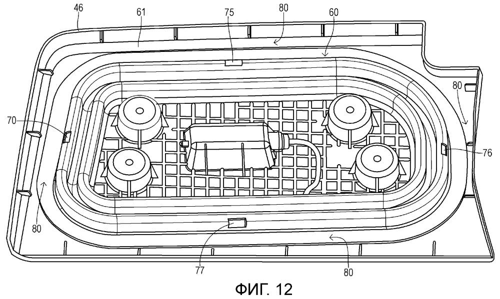Активный буфер для установки на поверхности внутренней отделки пассажирского отделения в автомобильном транспортном средстве