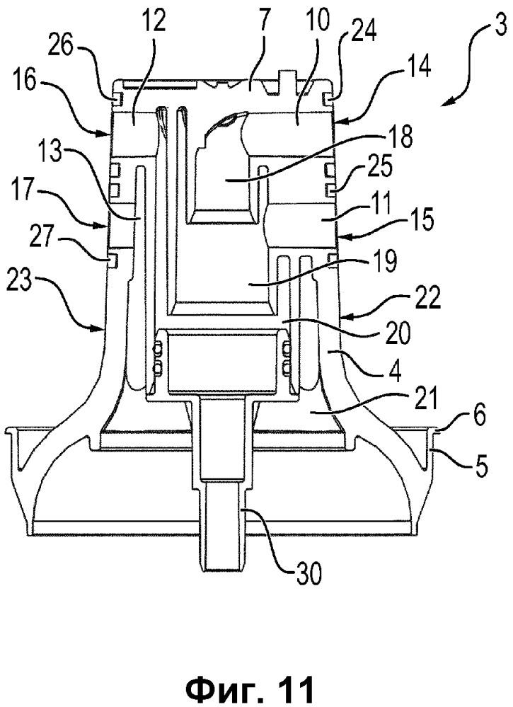 Картридж для обработки жидкости, набор таких картриджей и способ его изготовления