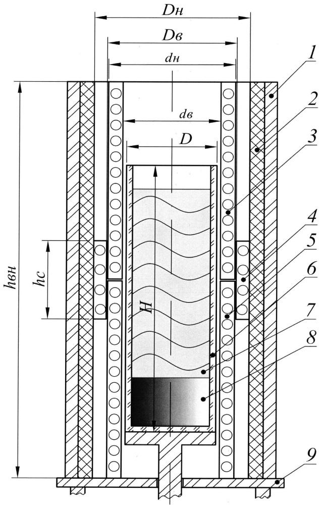 Устройство для выращивания кристаллов вертикальным методом бриджмена