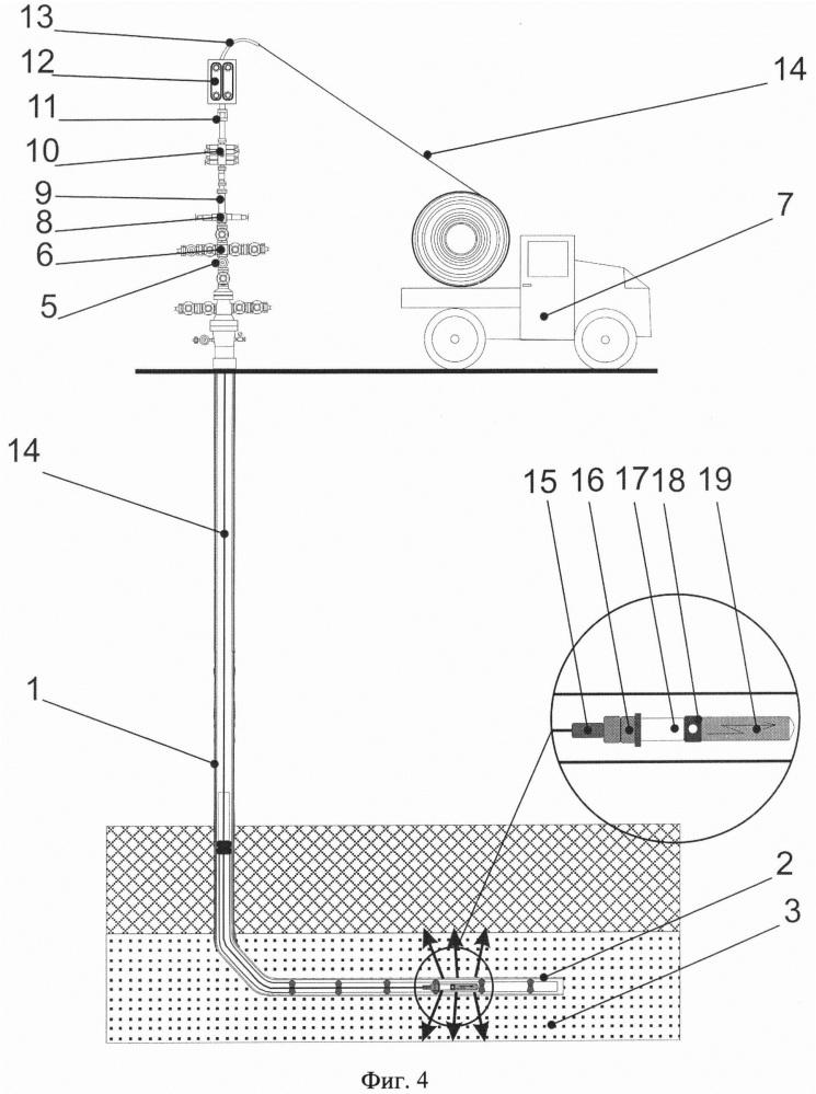 Способ воздействия на нефтенасыщенный интервал пласта в горизонтальном участке ствола нефтедобывающей скважины