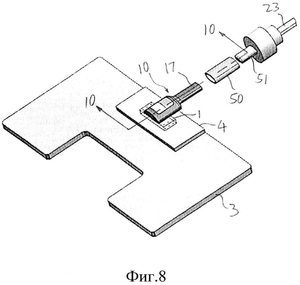 Основанная на визуальном наблюдении пассивная юстировка оптоволоконного узла относительно оптоэлектронного устройства