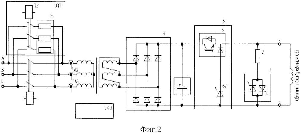 Выпрямитель для возбуждения синхронных электродвигателей