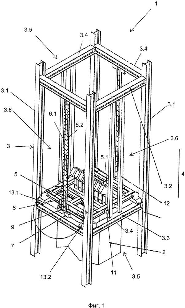 Шахтная подъемно-транспортная установка с тормозным устройством для защиты от переподъема
