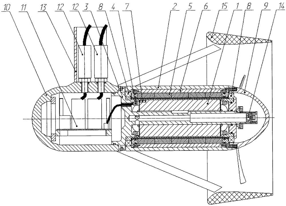 Двигательная установка подводного аппарата