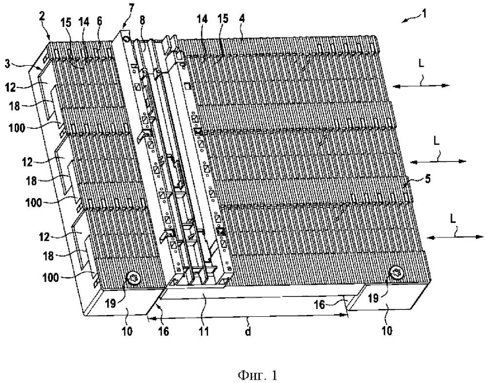 Устройство для защищенного от касания контакта с системой токопроводящих шин