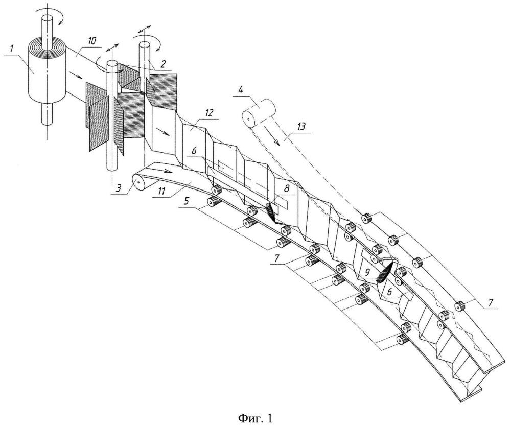 Устройство для изготовления круговой арки составного двутаврового сечения с тонкой поперечно-гофрированной стенкой