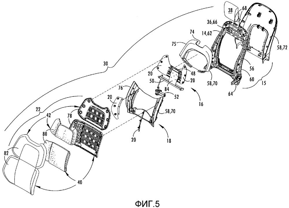 Подвесная система сиденья (варианты) и посадочный узел транспортного средства