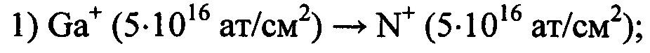 Способ ионно-лучевого синтеза нитрида галлия в кремнии