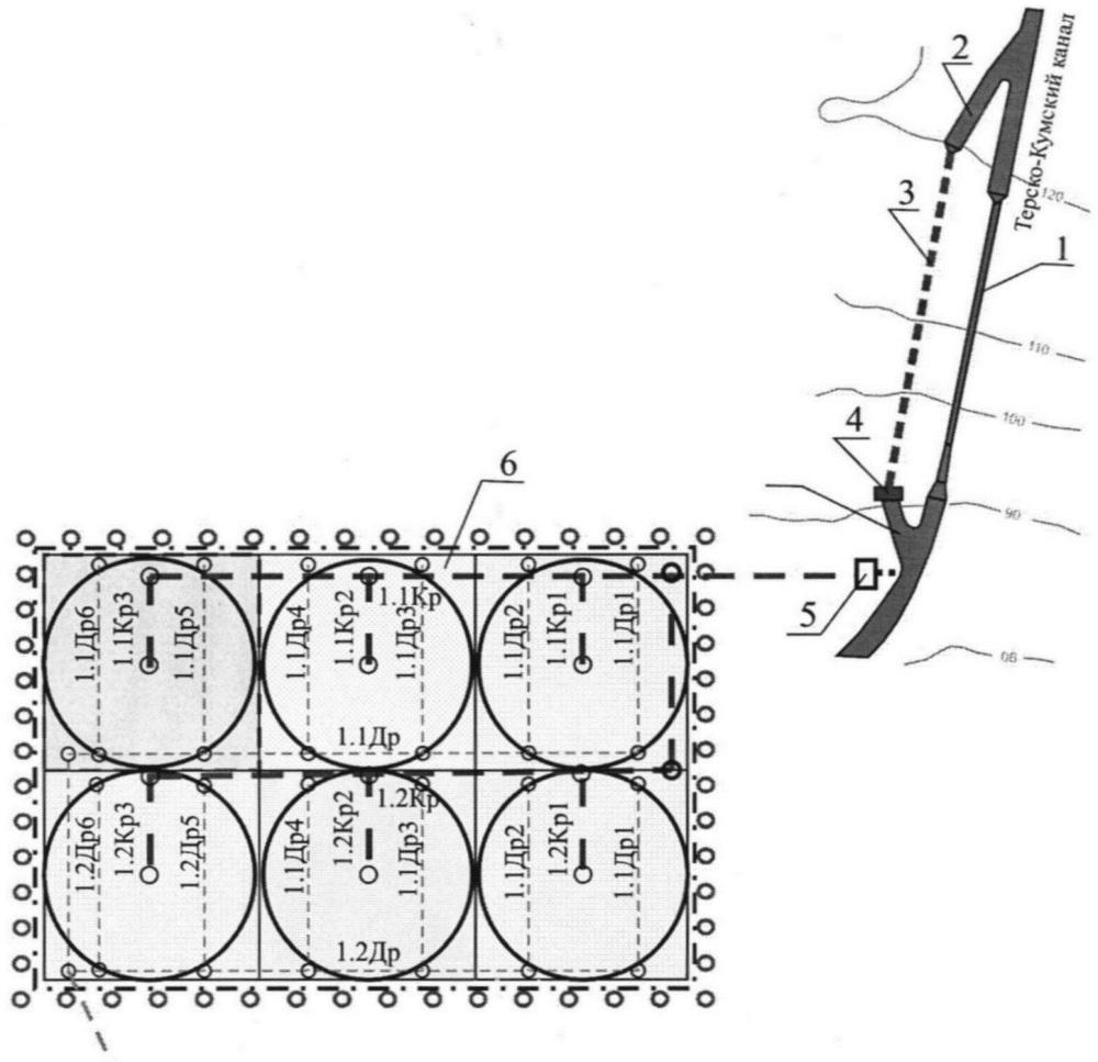Оросительная система с внутрисистемным энергообеспечением