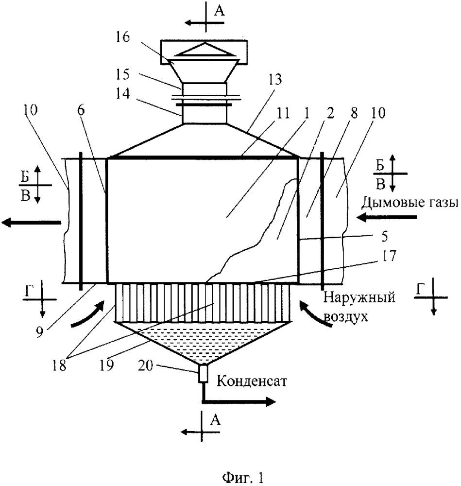 Пластинчатый теплообменник с естественным воздушным охлаждением