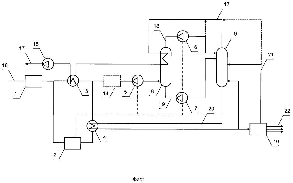 Установка нтдр для деэтанизации магистрального газа (варианты)