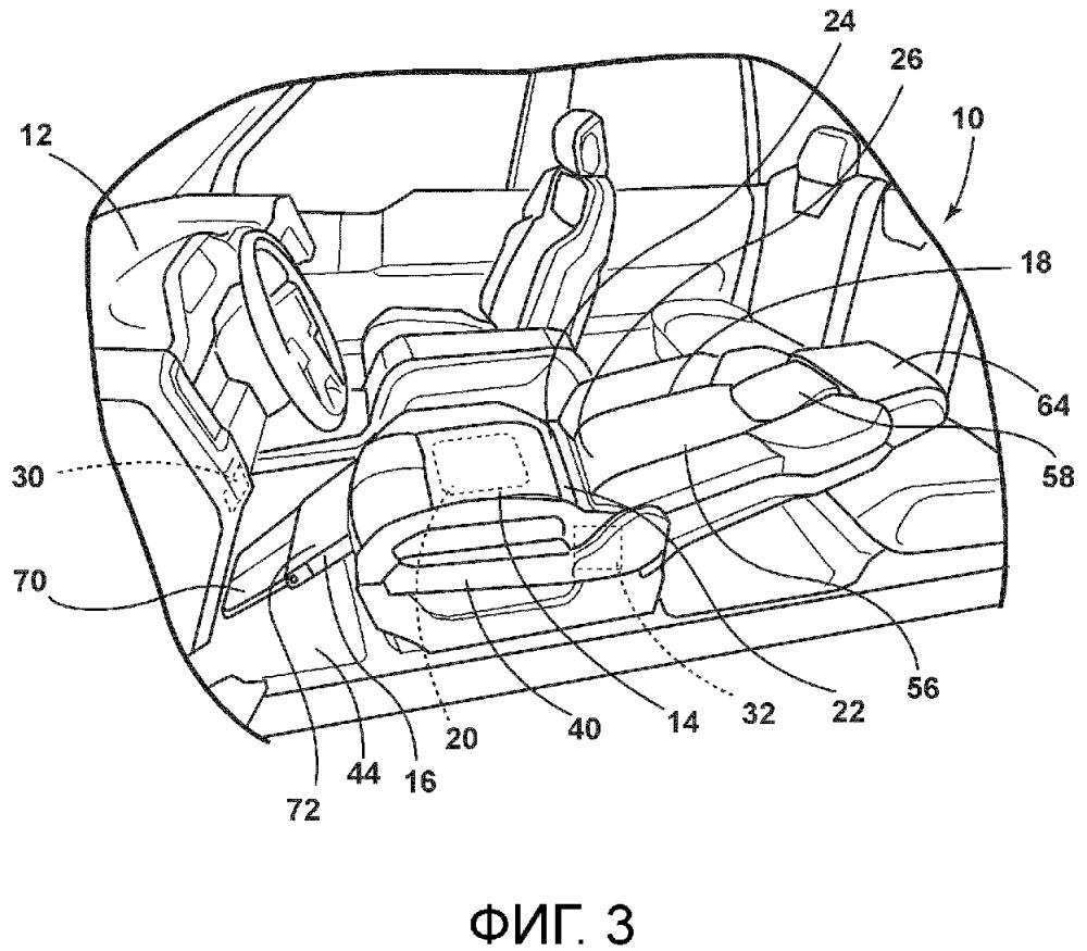 Режим спального места переднего сиденья и его функции