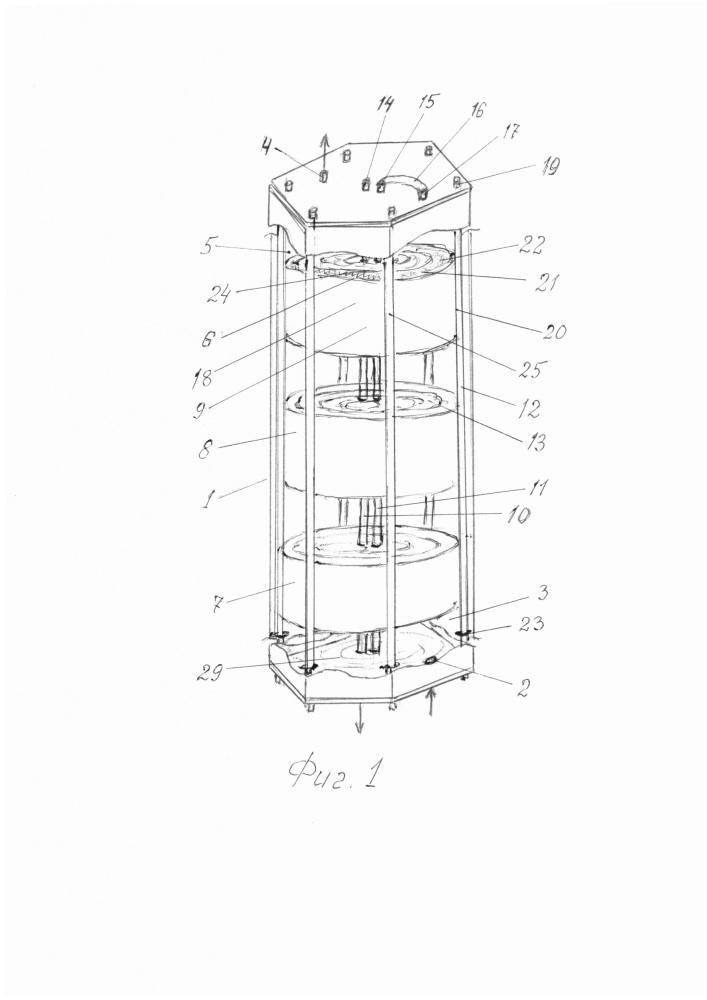 Мембранное полифункциональное устройство для обработки биологической жидкости