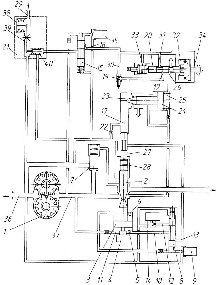 Двухканальная система топливопитания и регулирования газотурбинного двигателя