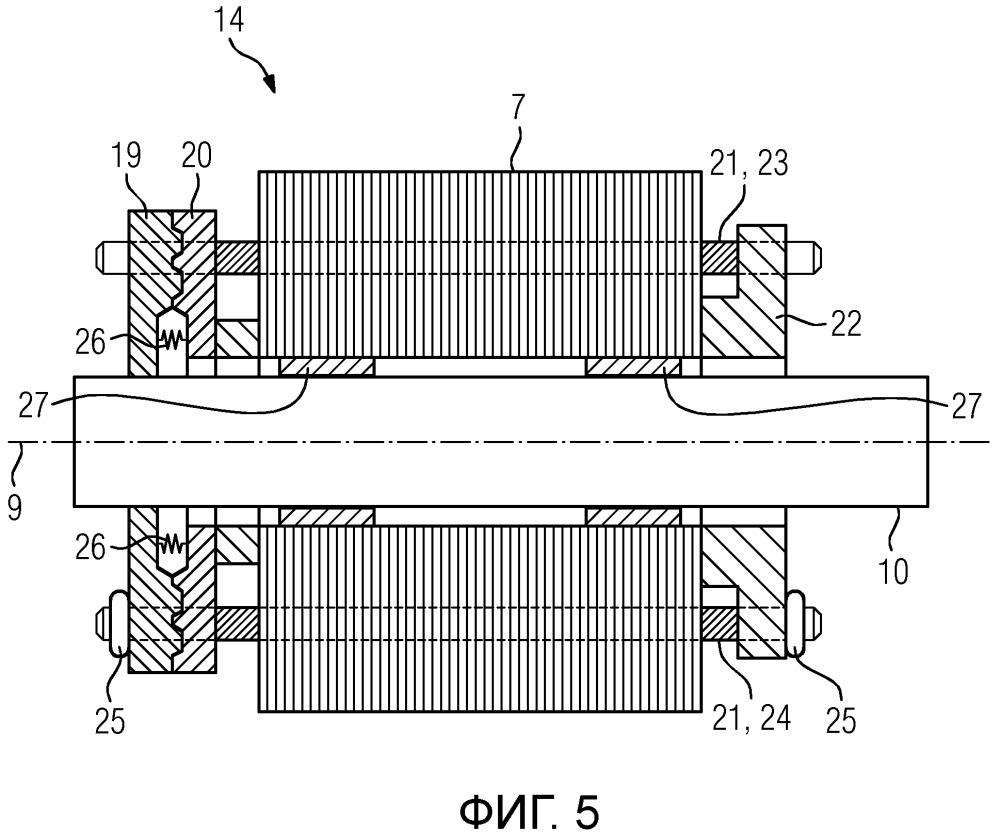 Синхронная машина с возбуждением от постоянных магнитов с автоматическим разъединением ротора при коротком замыкании обмотки