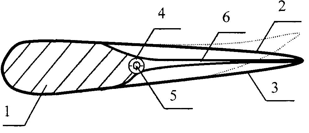 Лопасть воздушного винта с управляемой геометрией профиля