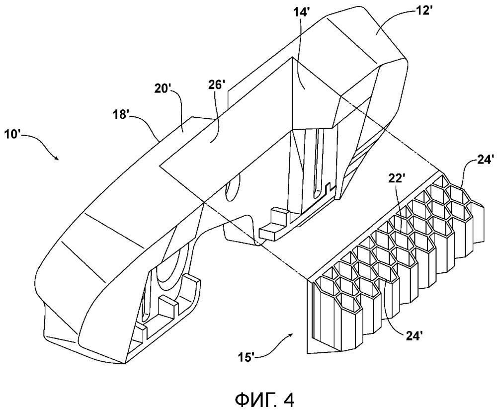 Направляющая боковой занавесочной подушки безопасности стойки кузова (варианты)